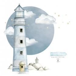 DEKORNIK hochwertige Wandsticker Gr. L Lighthouse Porticello