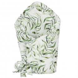 YOSOY Einschlagdecke mit Volants aus Bambus - EXOTIC LEAVES