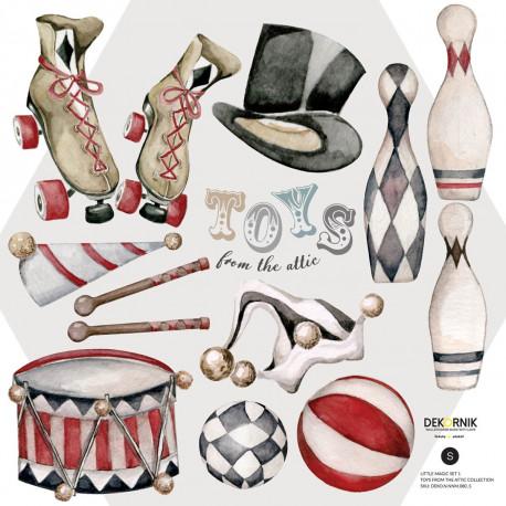 DEKORNIK hochwertige Wandsticker Set 2 Little Magic / Toys from the attic