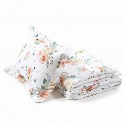 """QBANA MAMA - Bettwäsche aus 100% Baumwolle mit """"FÜLLUNG"""" 150x200cm - VINTAGE FLOWERS"""
