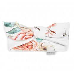 QBANA MAMA - Newborn Haarband aus 100 % Baumwolle - VINTAGE FLOWERS