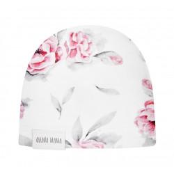 QBANA MAMA - Newborn Mütze aus 100 % Baumwolle - IN BLOSSOM
