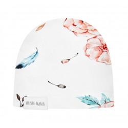 QBANA MAMA - Newborn Mütze aus 100 % Baumwolle - VINTAGE FLOWERS