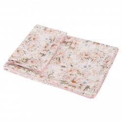 SAMIBOO - Bettwäsche aus 100% Baumwollsatin 100x135cm - PEONIE CREAM