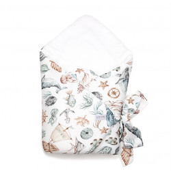 Qbana Mama Einschlagdecke aus Baumwolle - OCEANIC