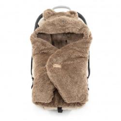 Qbana Mama - TEDDY Q-Bear Fußsack für die Autoschale Lammfelloptik - BRAUN